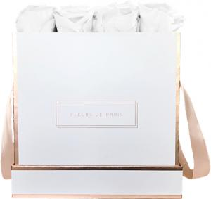 The Rosé Gold Collection Pure White Large weiss - eckig