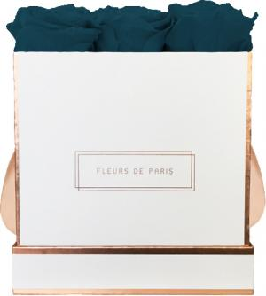 The Rosé Gold Collection Petrol Medium weiss - eckig