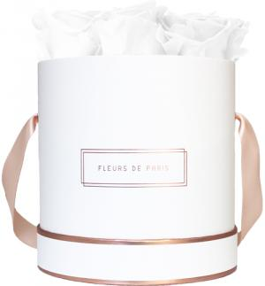 The Rosé Gold Collection Pure White Medium weiss - rund