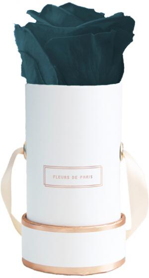 The Rosé Gold Collection Petrol Mini weiss - rund