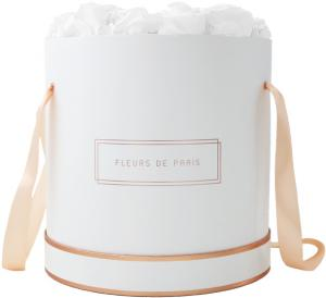 The Rosé Gold Collection Pure White Petit Luxe weiss - rund