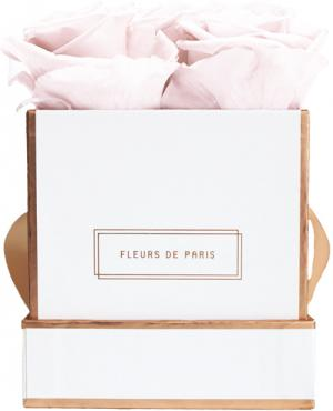 The Rosé Gold Collection Pastelle Pink Small weiss - eckig