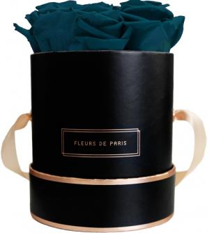 The Rosé Gold Collection Petrol Small schwarz - rund