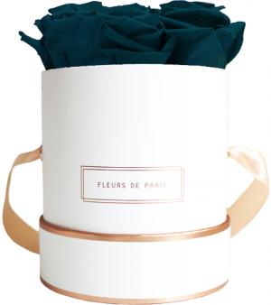 The Rosé Gold Collection Petrol Small weiss - rund