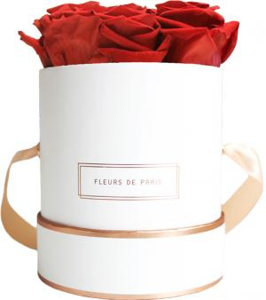 The Rosé Gold Collection Royal Red Small weiss - rund